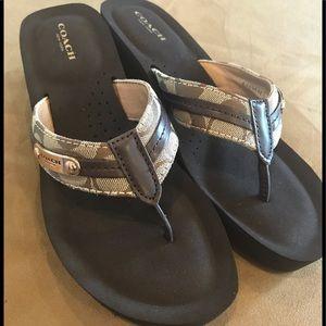 NEW!  Coach Jaden wedge sandal. Size 9